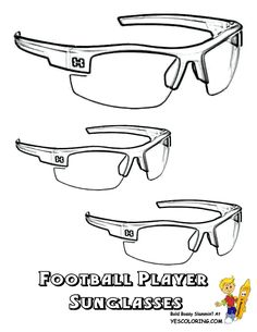 Your Football Print Outs Of Weird But Cool Players And Training Equipment Free Coloring Pages Clothes Shooter Sleeve Mouth Guard