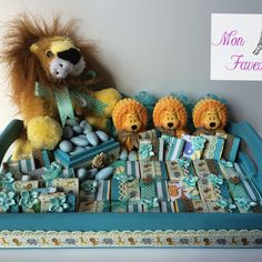 Safari themed trays for baby boy shower. Pick your colors and theme, made to order. www.facebook.com/MonAmiFaveurs