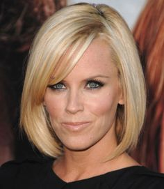 Keep the majority of your hair one length, then add a few face-framing side-swept bangs to draw attention to your eyes.