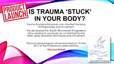 Kailo Therapeutic Movement Program by Dr Barbara Louw to be launched at the Professional Ladies Seminar on 13 May 2017.