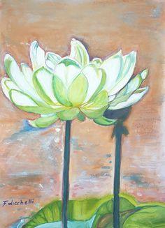 Loto bianco, pittura acrilica su carta, dipinto originale di Francesca Licchelli, idea regalo per lei, arredamento moderno e tradizionale. #mothersdaygift #whitelotus #lotusart #festadellamamma #quadroconfiori #flowerpainting #acrylicpainting #birthadaygift #compleanno #yogaart https://etsy.me/2EWHKjs https://etsy.me/2qH4ekt