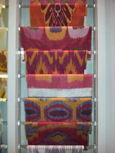 Bermingham ikats, Brunschwig & Fils showroom, NYC