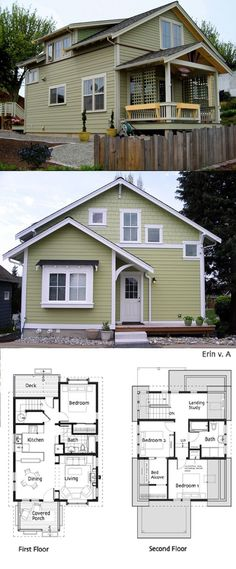Ross Chapin Architects - Erin Cottage :: 1302 sq. ft. 1390 opt B  absolutely love this house!!