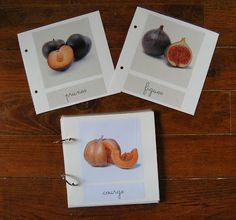 Merci qui ? MERCI MONTESSORI !: Cartes de nomenclature : fruits et légumes d'automne