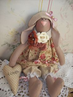 Tilda Doll - Tilda Bunny Tilda - Craft Doll - Fabric Doll - Home Decor - Textile Doll by TrixiCreation on Etsy
