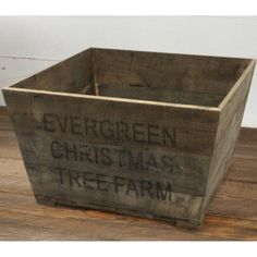 DIY Scrap Wood Crate Christmas Tree Stand - The Kim Six Fix