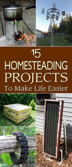 15 Great Homesteading Projects To Make Life Easier as you become and stay self-reliant.#affiliatelink