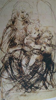Leonardo da Vinci estudo http://www.pinterest.com/lomonegro/da-vinci-rafael-miguel-angel/