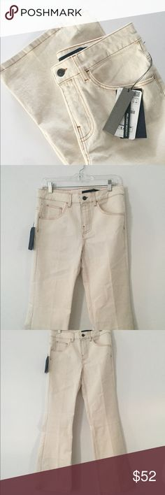Zara Woman Studio • NWT Cream Denim Jeans Awesome wide leg cream denim jeans from zara. Size 6. NWT retail @ $58 USD. Relaxed bootcut Zara Jeans Boot Cut