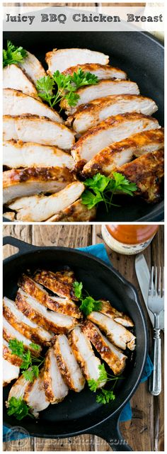 {USA} This is the Juiciest Barbecued Chicken Breast (my sister's famous recipe and a family favorite!) @natashaskitchen