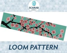Looking for your next project? You're going to love Cherry Blossom Pattern Loom Bead Cuff by designer ScarabJewels.