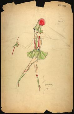 Charles Le Maire costume designs for the Greenwich Village follies [graphic] (1925 and 1926)