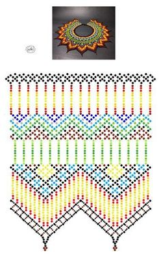 Beading Patterns Free, Bead Loom Patterns, Peyote Patterns, Diy Necklace Patterns, Beaded Necklace Patterns, Seed Bead Projects, Bead Loom Bracelets, Beading Techniques, Beaded Collar