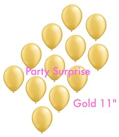 Gold balloons 11 Metallic Gold Balloons Wedding by PartySurprise