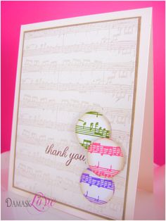 great card, I really must find a background stamp that has music notes!