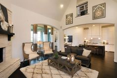 Highland Homes | Long Meadow Farms 80s | Living Room | Richmond, TX | Plan