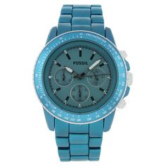 Pretty Teal Fossil Watch.