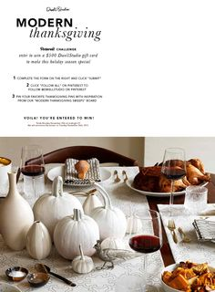 Dwell Studio's Thanksgiving Pinterest promotion (currently ended)