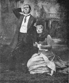 "Rosina Brandram as Lady Sangazure in ""The Sorcerer"" (1884 DOC revival) with George Grossmith as John Wellington Wells."
