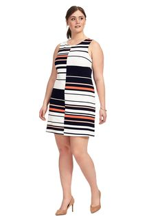 Adrianna Papell | Fire Cracker Stripe Dress | Gwynnie Bee