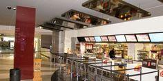 Refurbishment and re-branding works Cinestar / VOX Cinema in Marina Mall, Abu Dhabi. The Marina Mall Cinestar cinema was the first cinema to be refurbished and re-branded to VOX Cinemas. Refurbishment, Abu Dhabi, Mall, Cinema, Stairs, Branding, Home Decor, Stairways, Movies