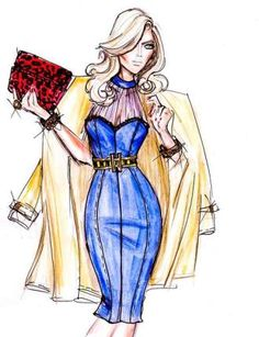 How to draw fashion design sketches easier5