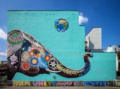 """""""Street Art by Jadore Tong    Berlin  #art #mural #graffiti #streetart"""""""