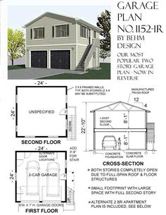 Garage Apartment Floor Plans Do Yourself 2 story garage with second story apartment or space under 20 ft