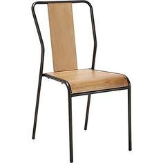 Chaise en chêne et métal