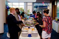 Duke University Event Catering - Students enjoying the buffet