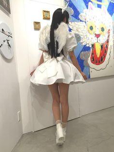 8月20日まで開催中のキュレーション展「 #喫茶天 」にて展示中の「相沢梨紗×クリアストーン」天使の