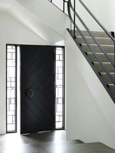 Not so keen on the glass windows either side but the door is lovely. Modern House DesignModern Front ... & The 27 best Door images on Pinterest | Contemporary doors Double ...