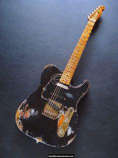 FENDER TELECASTER DELUXE SERIES NASHVILLE ON SUNBURST BLACK AGED HEAVY RELIC #Fender