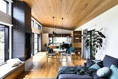 Open-plan spaces are more popular than ever. Click through to navigate the world of open floor-plans more easily with 13 tips to inspire your layout Prefabricated Houses, Prefab Homes, Modular Homes, My Living Room, Living Area, Living Spaces, Open Space Living, Open Plan Living, Passive Design