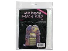 "All-purpose mesh bag - Pack of 24 by Bulk Buys. $38.55. Width: 8. Dimensions:. Length: 8. Height: 8. Great Gift Idea.. This all-purpose mesh bag is ideal for laundry, toys, sports equipment, camping gear and even works as a tote bag. Bag is made of nylon and has a sewn in drawstring. Will not mildew, rot or retain odors. Comes in a poly bag with insert card and hanging hole Bag is 22"" x 21 1/2"". Dimensions:. Length: 8. Height: 8. Width: 8"