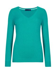 A classic V neck cashmere jumper/sweater never goes out of style.  The one pictured is Emerald and it is available in seven other colours.  €95 from Marks and Spencer.  Up to size 24.