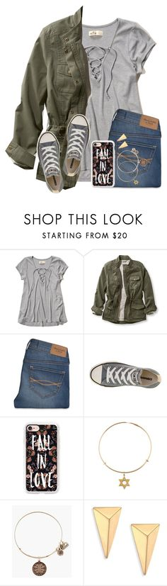 """I Dunno About This Outfit...But Eh Whatever"" by twaayy ❤ liked on Polyvore featuring Hollister Co., L.L.Bean, Abercrombie & Fitch, Converse, Casetify, Alex and Ani and Alexis Bittar"