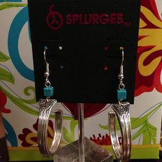 Silverware Earrings with turquoise beads Instagram Photo Feed on the Web - Gramfeed | splurgesboutique (Splurges Boutique)