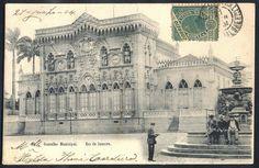 Rio de Janeiro - Conselho Municipal - Cartão Postal antigo original, editado por A. Ribeiro, circulado em 1904.