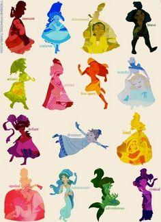 Disney Princesses Silhouettes