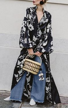 Silk Satin Kimono by Johanna Ortiz