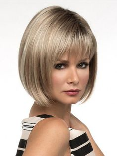 result for Double Chin Short Bob Hairstyles with Bangs for Round Face - Fat Face Haircuts, Hairstyles For Fat Faces, Haircuts For Fine Hair, Hairstyles Over 50, Short Haircuts, Trending Hairstyles, Medium Short Hair, Short Hair With Bangs, Short Hair Cuts For Women