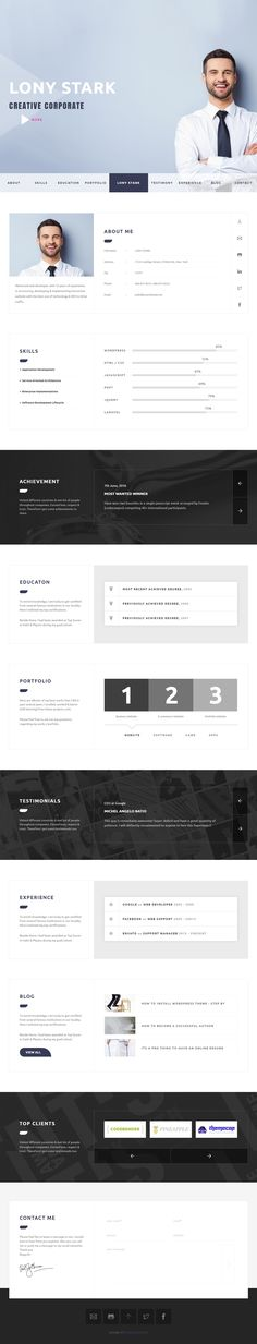 Best Resume Website Templates Onerom Personal Portfolio Template  Websitetemplates  Pinterest .