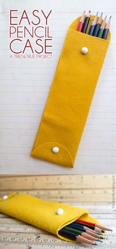 Make a cute pencil case in ten minutes - you don't need a sewing machine!