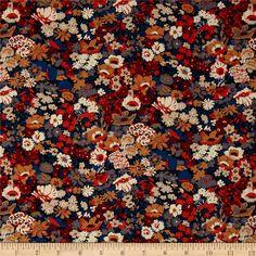 Liberty Fabrics Classic Tana Lawn Thorpe Blue/Brown from Liberty Of London Fabric, Liberty Fabric, Gorgeous Fabrics, Beautiful Patterns, Cotton Lawn Fabric, Stylish Shirts, Blue Brown, Fabric Patterns, Fabric Design