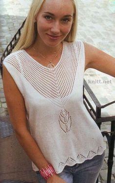 El mensaje limada: los patrones de los modelos veraniegos y para la inspiración - la moda primaveral Vintage Crochet Patterns, Lace Knitting Patterns, Lace Patterns, Hairpin Lace Crochet, Mode Crochet, Summer Knitting, Crochet Clothes, Knitwear, Tops