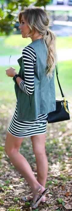 Hive & Honey Army Green Women's Utility Vest