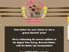 Dippin' Dots Batter Up! Sweepstakes