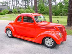 This 1938 coupe is an excellent instance of what is called a Street Rod. Custom Rat Rods, Custom Cars, Car Man Cave, Chevy Girl, Classic Hot Rod, Old School Cars, Ford Classic Cars, Abandoned Cars, Sweet Cars
