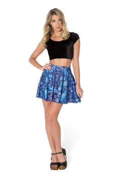 Midnight Owl Skater Skirt - LIMITED › Black Milk Clothing